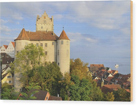 Meersburg Castle And Town Germany Wood Print by Matthias Hauser