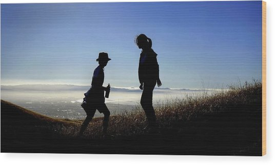 Meet At The Top Of The World Wood Print