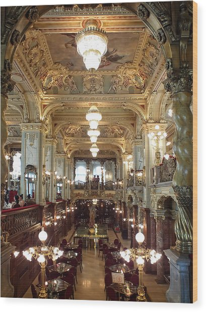 Meet Me For Coffee - New York Cafe - Budapest Wood Print