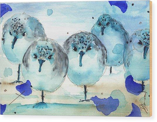Meet The Sanderlings Wood Print