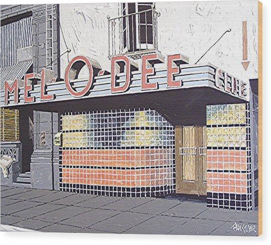 Mel O Dee Club Wood Print by Paul Guyer