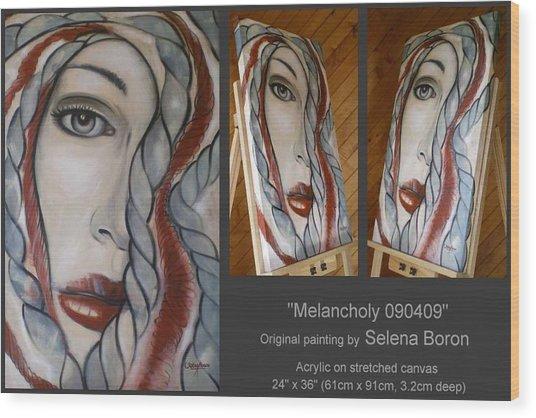 Melancholy 090409 Wood Print