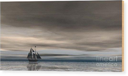 Melancholy Waters Wood Print