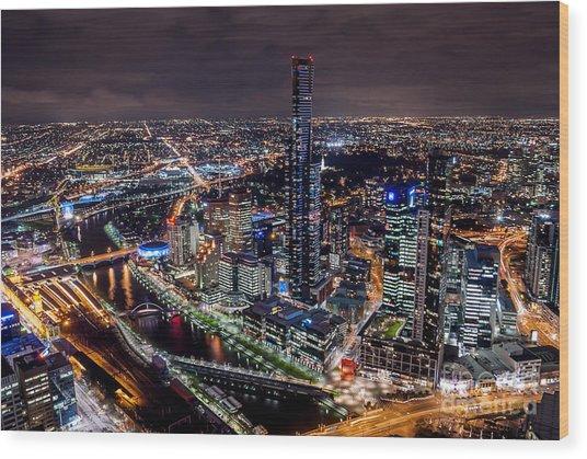 Melbourne At Night IIi Wood Print