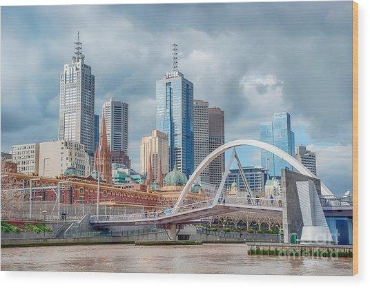 Melbourne Australia Wood Print