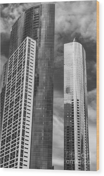 Melbourne Towers 2 Wood Print