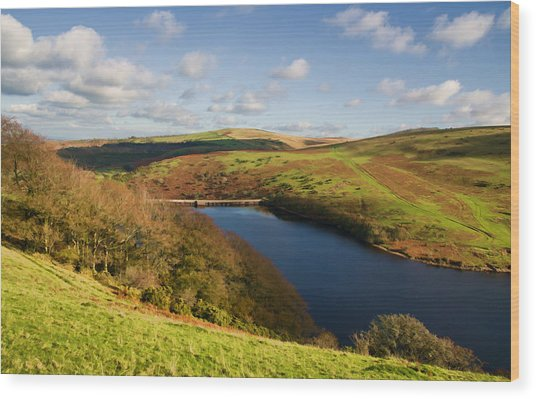 Meldon Reservoir On Dartmoor Wood Print