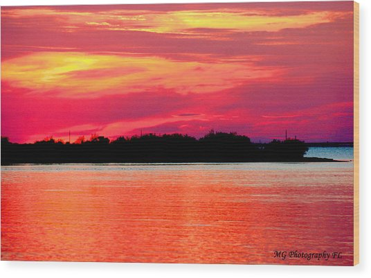 Wood Print featuring the photograph Melting Sky  by Marty Gayler