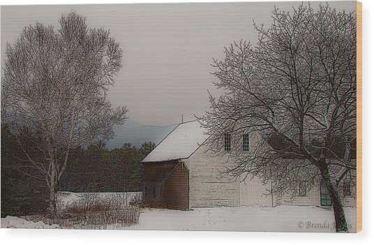 Melvin Village Barn Wood Print