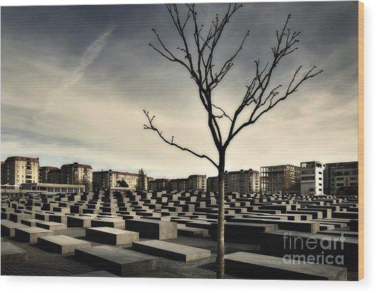Memorial Landscape Wood Print