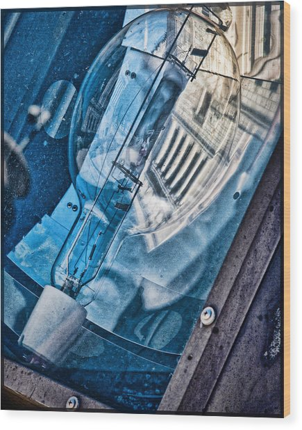 Memorial Reflection Wood Print by Kristi Swift