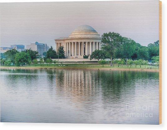Memorial Sunset Wood Print