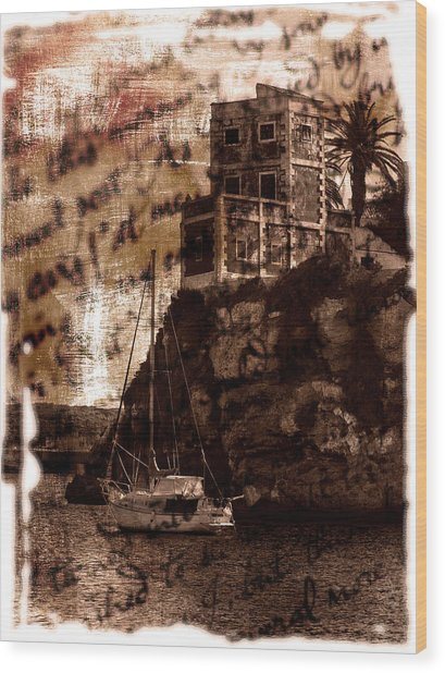 Memories By The Sea Wood Print