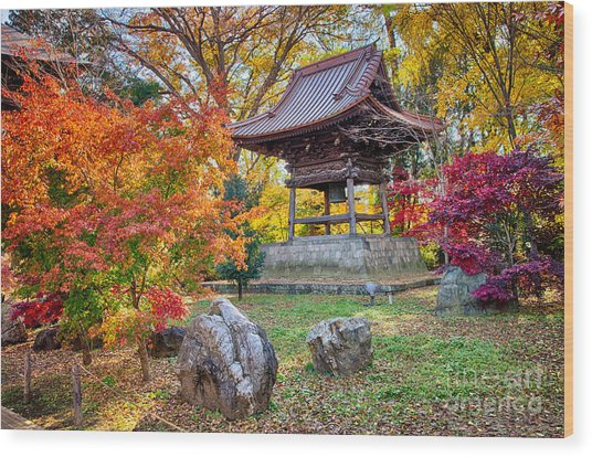 Memories Of Autumn-4 Wood Print by Tad Kanazaki