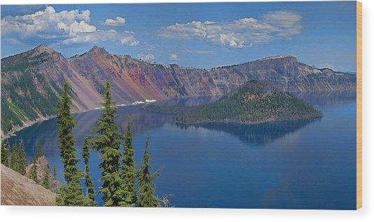 Memories Of Crater Lake Wood Print