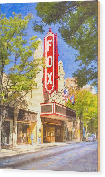 Wood Print featuring the photograph Memories Of The Fox Theatre by Mark E Tisdale