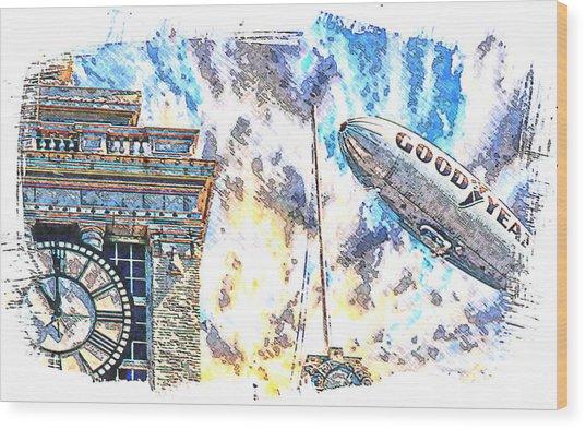 Memories Of The Hindenburg Wood Print by Ken Evans