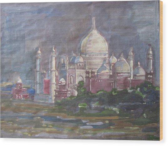 Memories Of The Taj Wood Print