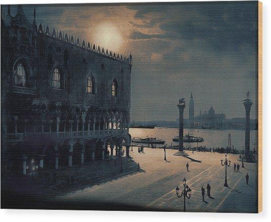 Memories Of Venice No 2 Wood Print