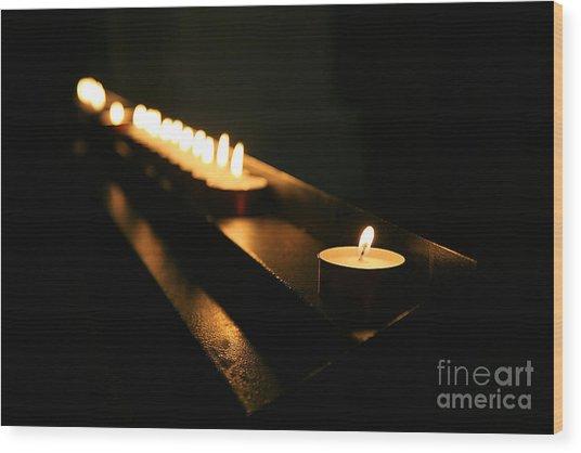 Memory Flame Wood Print