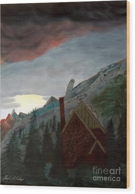 Memory Of Jonbenet Ramsey Wood Print by Stephen Schaps