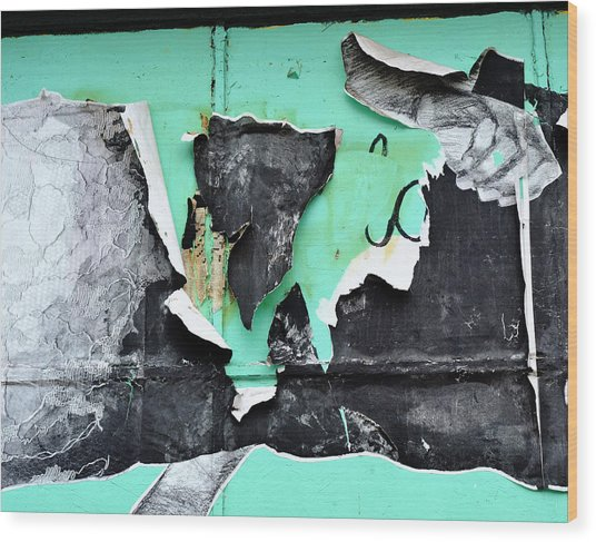 Memphis Found Art Green Good On Ya Wood Print