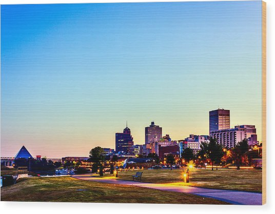 Memphis Morning - Bluff City - Tennessee Wood Print