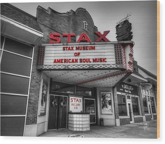 Wood Print featuring the photograph Memphis - Stax Records 001 Ck by Lance Vaughn