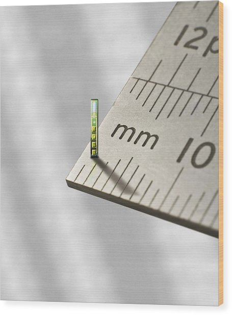 Mems Chip, Artwork Wood Print by Science Photo Library