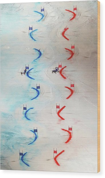 Men And Womens Nations Team Event - Wood Print