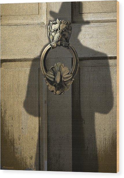 Men In Black Wood Print by Larry Butterworth