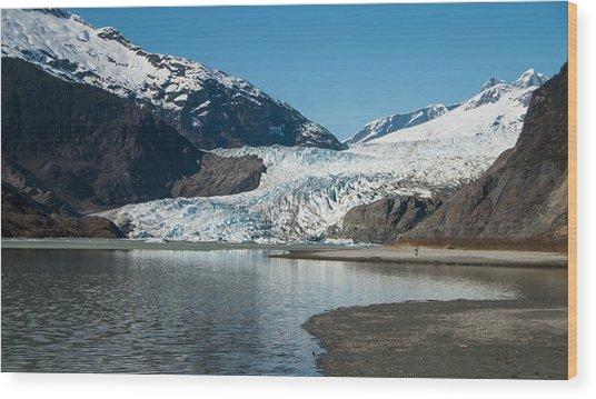 Mendenhall Glacier In Alaska Wood Print