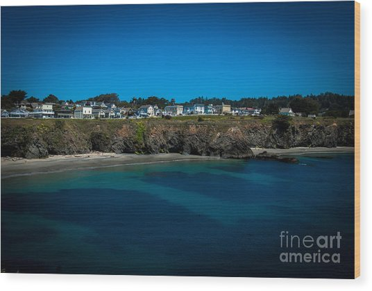 Mendocino California Wood Print