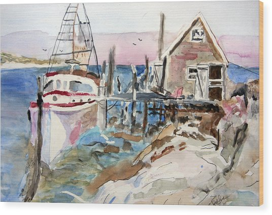 Menemsha Harbor Wood Print