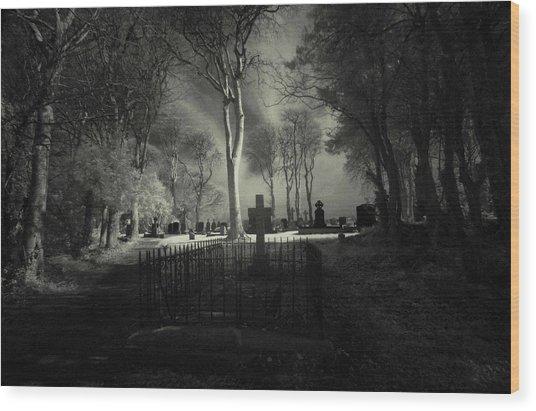 Menlo Cemetery Wood Print