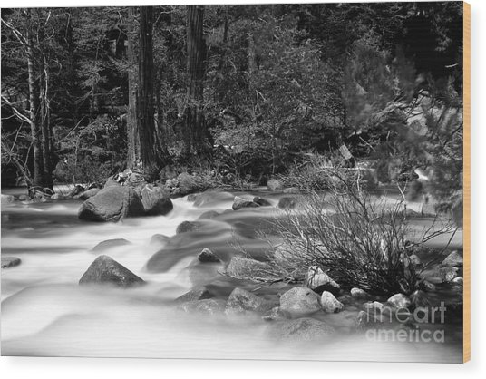 Merced River Wood Print