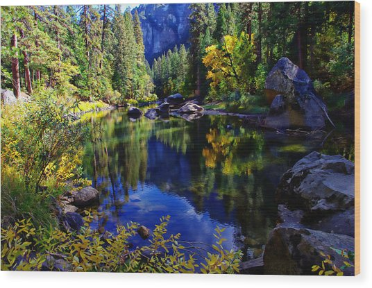 Merced River Yosemite National Park Wood Print