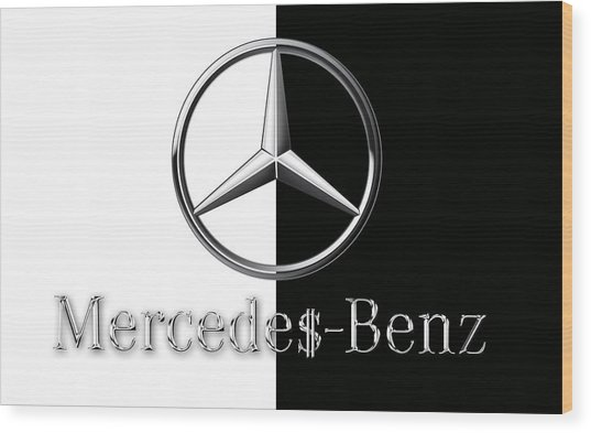 Mercedes-benz Logo Wood Print