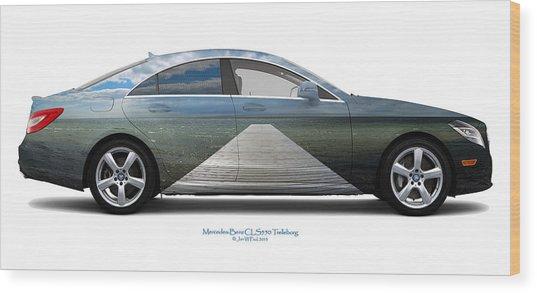 Mercedes-benz Cls550 Trelleborg Wood Print by Jan W Faul