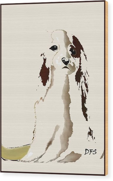 Mercedes  - Our Cavalier King Charles Spaniel  No. 9 Wood Print
