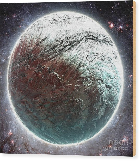 Mercury Planet Wood Print by Bernard MICHEL