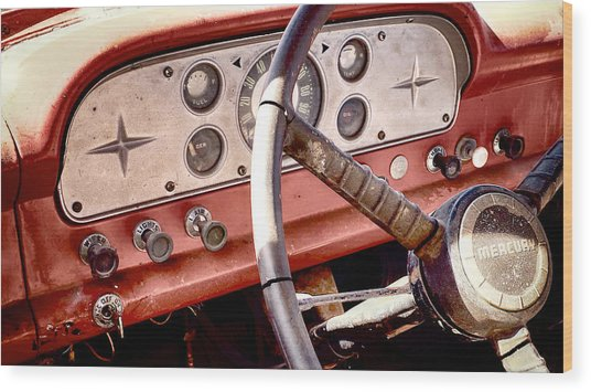 Wood Print featuring the photograph Mercury Truck by Trever Miller