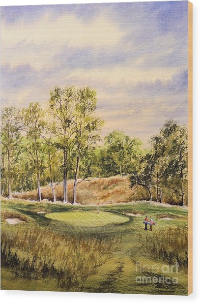 Merion Golf Club Wood Print