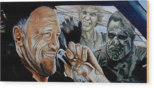 Merle's Last Stand Wood Print