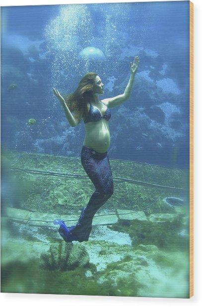 Mermaid Madonna Wood Print