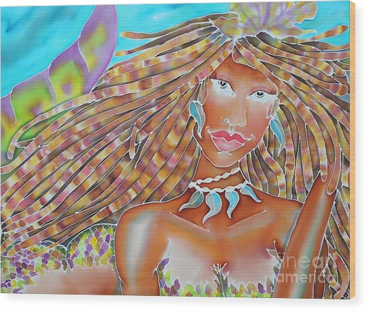 Mermaid Queen Wood Print