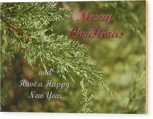 Merry Christmas 01 Wood Print