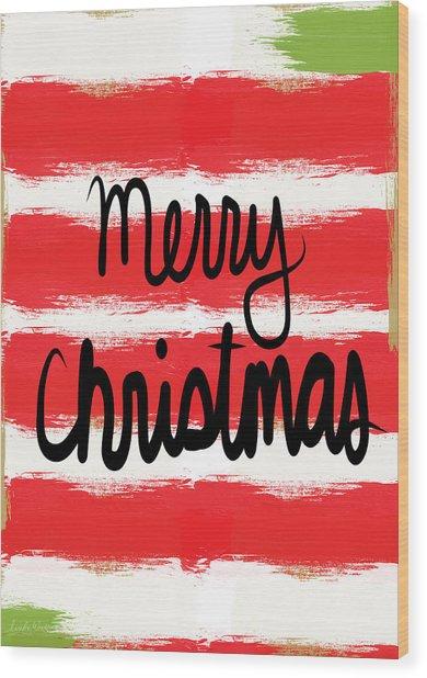 Merry Christmas- Greeting Card Wood Print