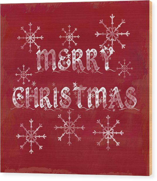 Wood Print featuring the painting Merry Christmas by Jocelyn Friis