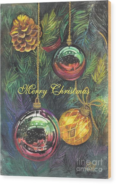 Merry Christmas Wishes Wood Print